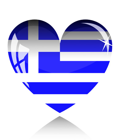 000017 Greek Flag heart