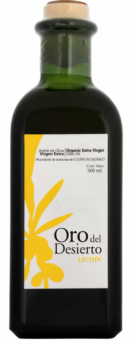 Oro del Desierto – Lechin,  Aceite Ecológico de Oliva Virgen Extra Español